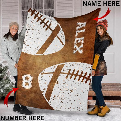 Custom Football Brown Blanket - KA2709194OA