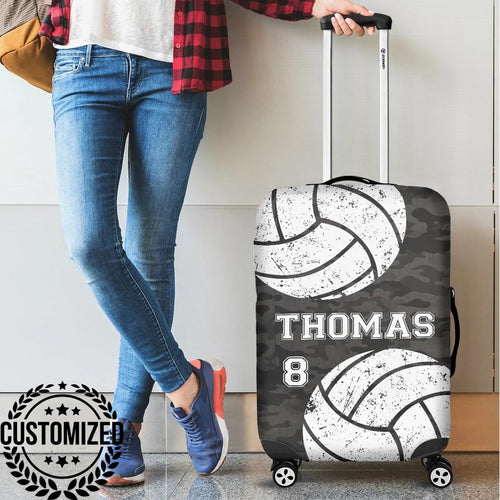 Custom Volleyball Camo Luggage Covers - TO0111192OA