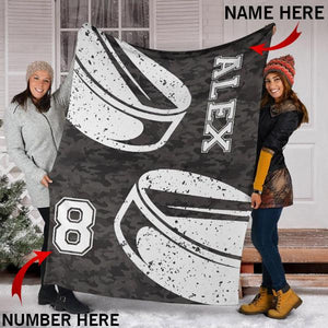 Custom Hockey Camo Blanket - KA2409197OA
