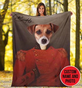 Custom Dog Portrait Blanket - KH3110193OA