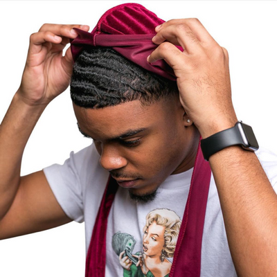 How to put a durag on for waves