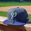 New Era 9FIFTY Graphite/Navy Alternate P Snapback