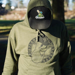 Green Hooded Sweatshirt with Low Profile Badge Logo