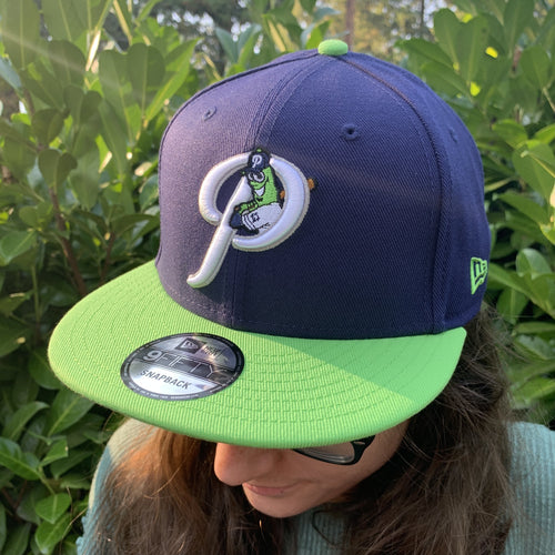 New Era 9FIFTY Navy/Lime Alternate P Snapback