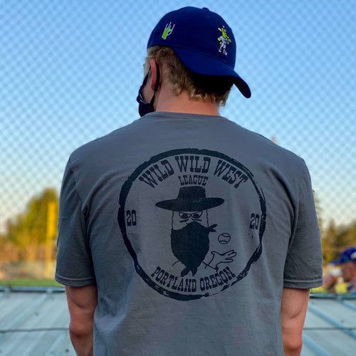 Midnight Grey Wild Wild West League T-shirt