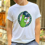 White T-Shirt Pickles Badge Logo