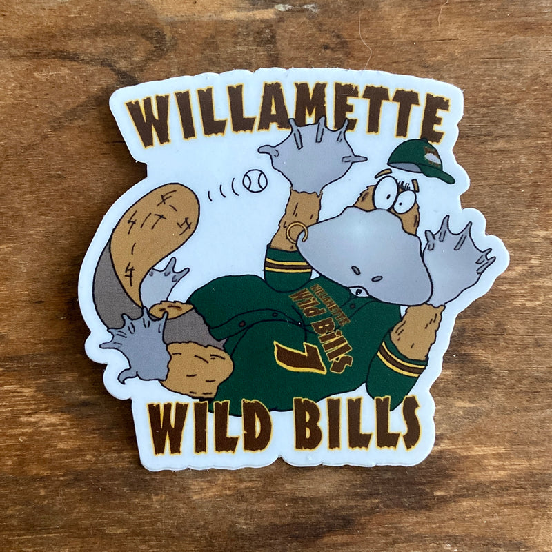 Willamette Wild Bills Die Cut Sticker