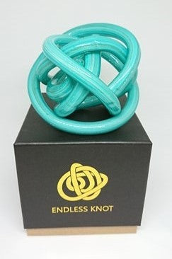 Endless Knot - Teal & Gold