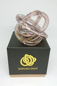 Endless Knot - Blush Pink Metallic