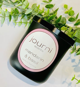 Journi Scents Candle - Mandarin & Basil
