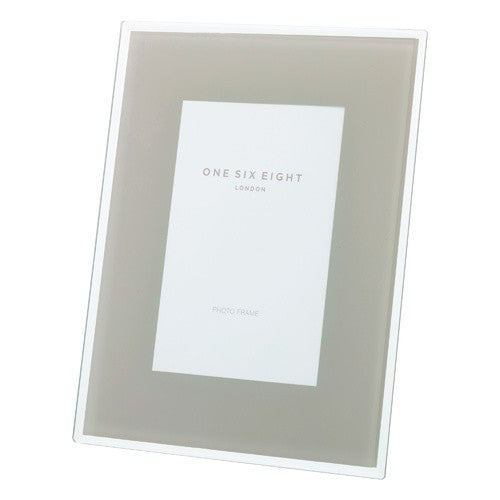 "Glass Photo Frame - Cool Grey - 7"" X 5"""