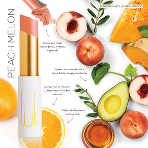 Luk Beautifood - Lip Nourish - Peach Melon