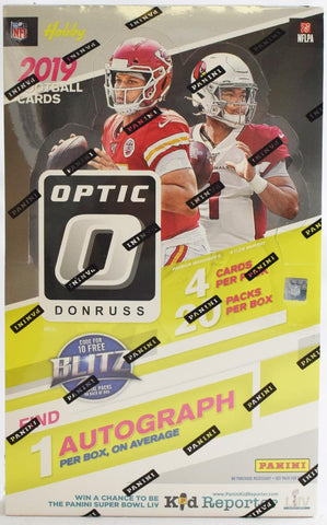 2019 Panini Donruss Optic Hobby Football, Box