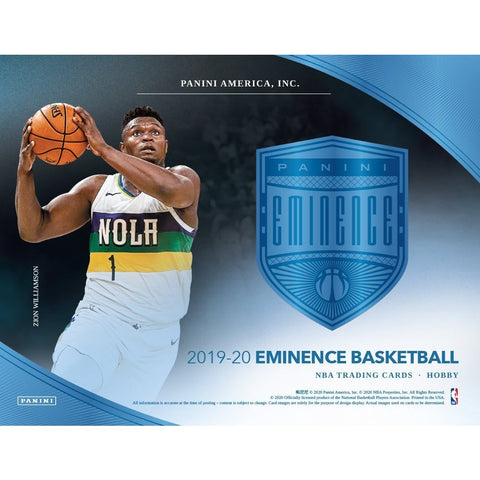 2019-20 Panini Eminence Basketball, Box