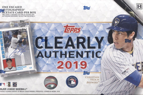 2019 Topps Clearly Authentic Baseball, Box