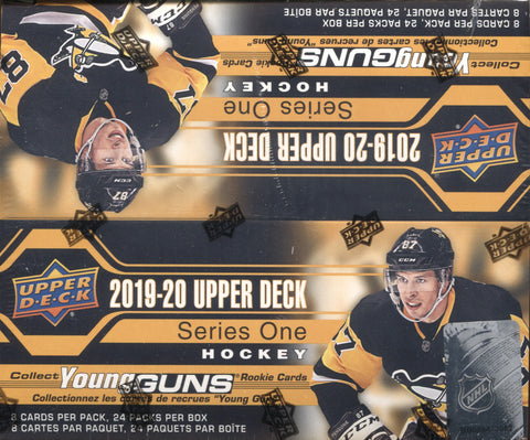 2019-20 Upper Deck Series One Retail Hockey, Box w/2 PROMO PACKS