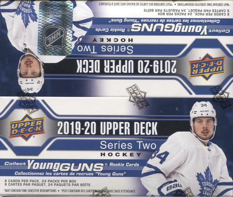 2019-20 Upper Deck Series Two Retail Hockey, Box w/2 PROMO PACKS