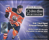 2019-20 Upper Deck O-PEE-CHEE Platinum Hobby Hockey, Box