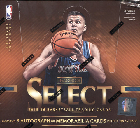 2015-16 Panini Select Hobby Basketball, Box