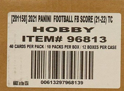 2021 Panini Score Hobby Football, 12 Box Case
