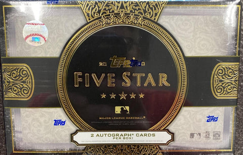 2020 Topps Five Star Hobby Baseball, Box w/4 PROMO PACKS