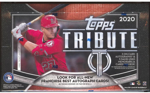 2020 Topps Tribute Baseball, Box