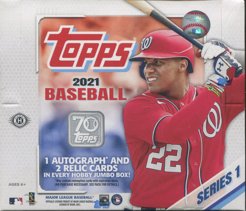 2021 Topps Series 1 Jumbo Baseball, Box