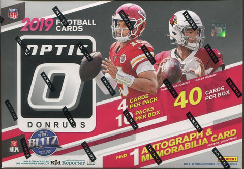 2019 Panini Donruss Optic Collector's Football, Box