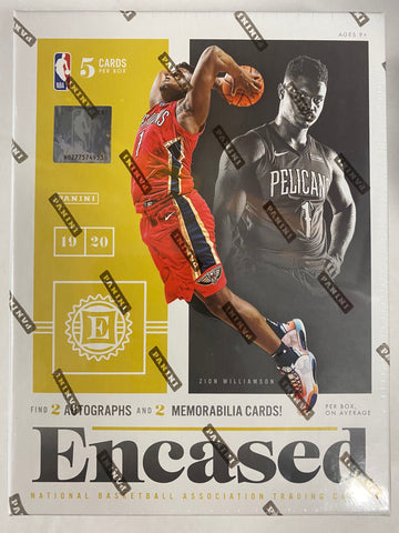 2019-20 Panini Encased Hobby Basketball, Box