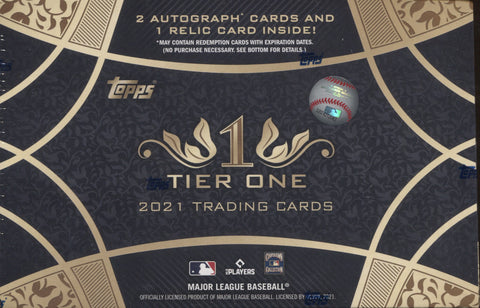 2021 Topps Tier One Hobby Baseball, Box
