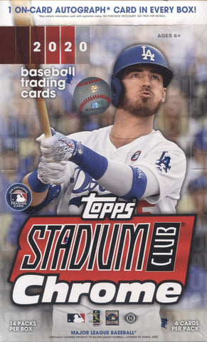 2020 Topps Stadium Club Chrome Baseball, Box