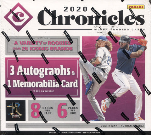 2020 Panini Chronicles Hobby Baseball, Box