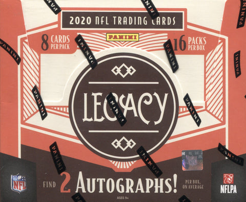 2020 Panini Legacy Football, Box w/2 PROMO PACKS