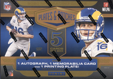 2020 Panini Plates & Patches Hobby Football, Box