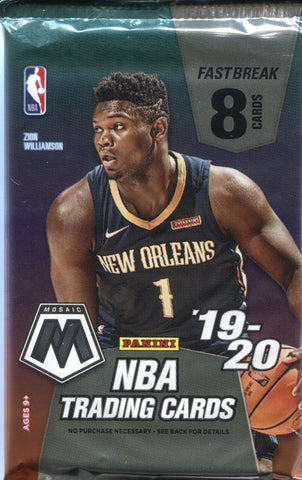2019-20 Panini Mosaic Fast Break Basketball, Pack