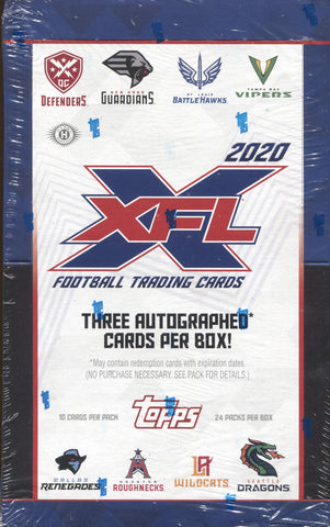2020 Topps XFL Hobby Football, Box