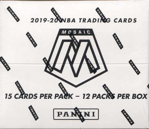2019-20 Panini Mosaic Basketball, Cello Box