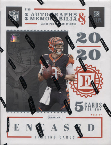2020 Panini Encased Hobby Football, Box