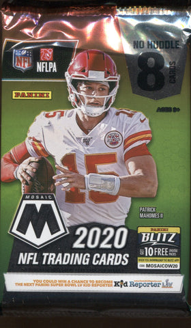 2020 Panini Mosaic No Huddle Football, Pack