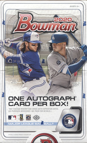 2020 Bowman Hobby Baseball, Box