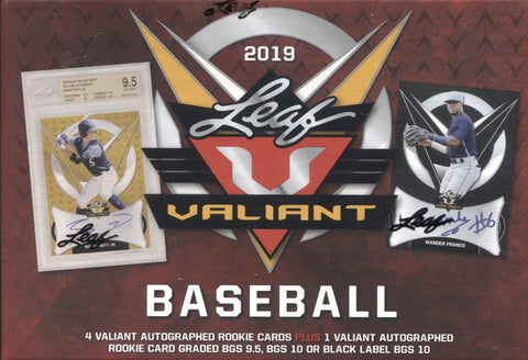 2019 Leaf Valiant Hobby Baseball, Box
