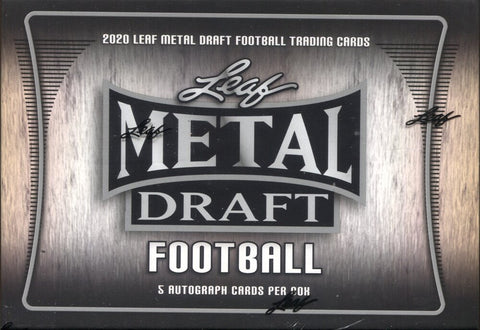 2020 Leaf Metal Draft Hobby Football, Box