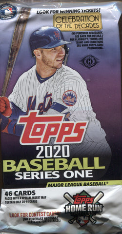2020 Topps Series 1 Jumbo Baseball, Pack