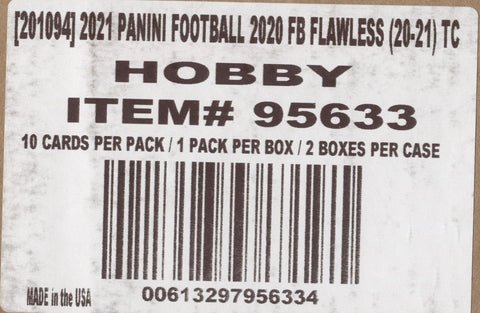 2020 Panini Flawless Hobby Football, 2 Box Case