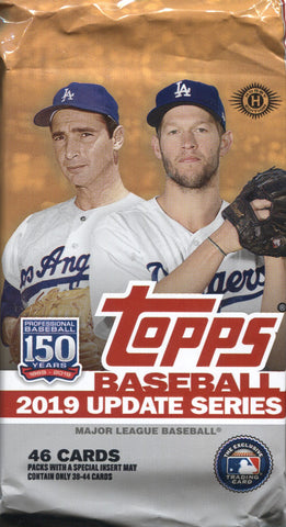 2019 Topps Update Jumbo Baseball, Pack