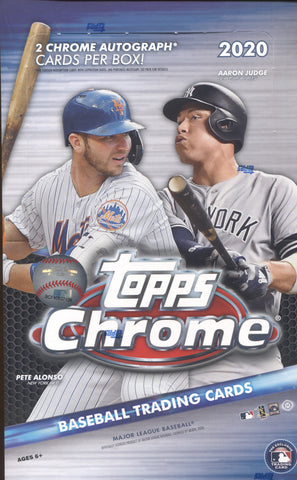 2020 Topps Chrome Hobby Baseball, Box