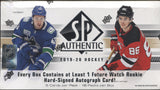 2019-20 Upper Deck SP Authentic Hockey, Box