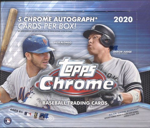 2020 Topps Chrome Jumbo HTA Baseball, Box
