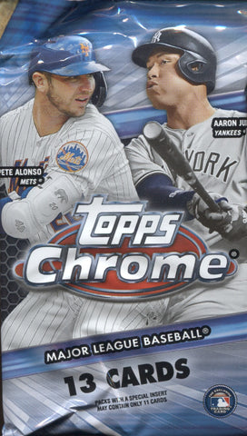 2020 Topps Chrome Jumbo HTA Baseball, Pack