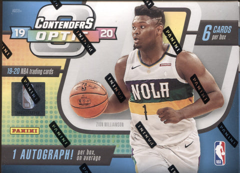 2019-20 Panini Optic Contenders Hobby Basketball, Box